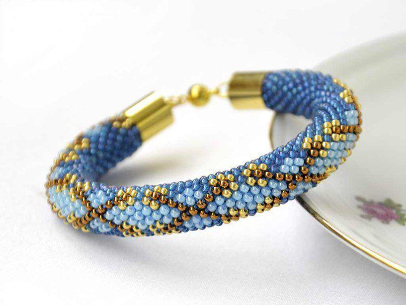 Вязание из бисера браслеты 618