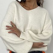 Одежда handmade. Livemaster - original item Milkshake Textured Knit Air Pullover. Handmade.