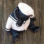 Куклы и игрушки ручной работы. Ярмарка Мастеров - ручная работа Морской ... мишка тедди. Handmade.