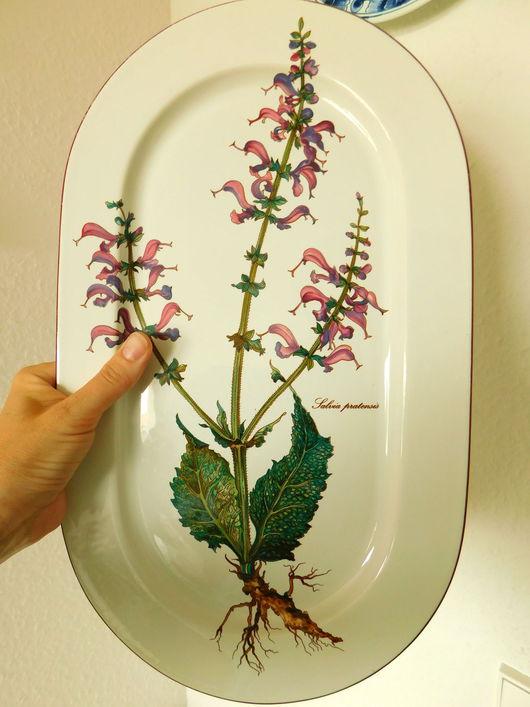 Винтажная посуда. Ярмарка Мастеров - ручная работа. Купить Большое сервировочное блюдо Villeroy&Boch «Botanica». Handmade. Фиолетовый, фарфоровая посуда