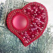 Украшения handmade. Livemaster - original item Brooch Heart of a big city beading. Handmade.