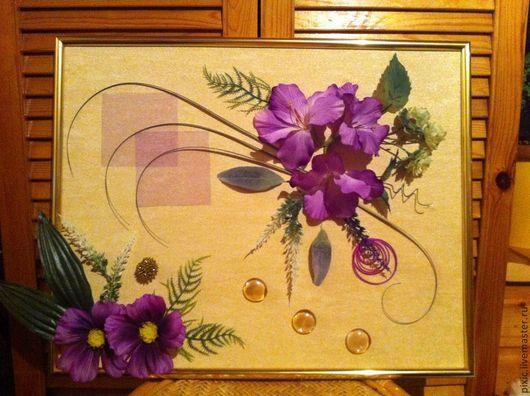 Картины цветов ручной работы. Ярмарка Мастеров - ручная работа. Купить Гладиолусы. Handmade. Сиреневый, картина для интерьера, искусственные цветы