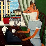 Картины и панно ручной работы. Ярмарка Мастеров - ручная работа В ожидании звонка. Handmade.