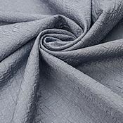 Материалы для творчества ручной работы. Ярмарка Мастеров - ручная работа Итальянская костюмная ткань-фукра   ARMANI JEANS темно-голубая меланж. Handmade.