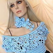 Одежда handmade. Livemaster - original item Knitted crop top from Olga Lace. Handmade.