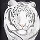Футболки, майки ручной работы. Заказать Белый тигр. Любовь 'MODYAGINAART' Style & Art. Ярмарка Мастеров. единственный экземпляр