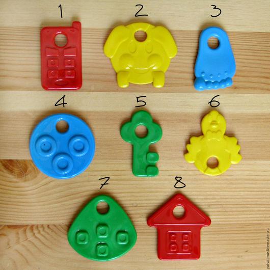 Куклы и игрушки ручной работы. Ярмарка Мастеров - ручная работа. Купить 0604 Зубопрорезыватели, грызунки пластиковые 8 видов. Handmade.