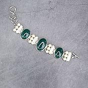 Украшения handmade. Livemaster - original item Bracelet with natural green agate and Baroque pearls. Handmade.