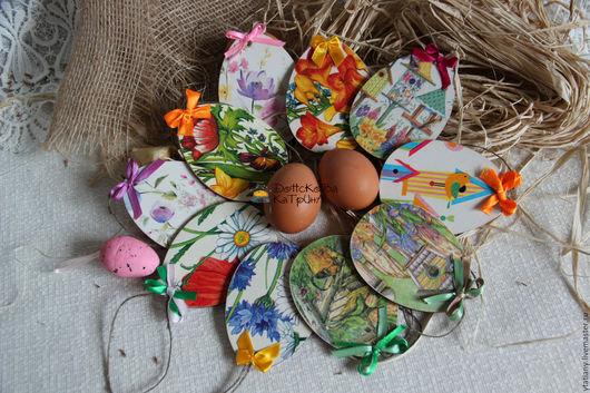 """Подарки на Пасху ручной работы. Ярмарка Мастеров - ручная работа. Купить Яйца- подвески мини """"Ассорти"""". Handmade. Пасха"""