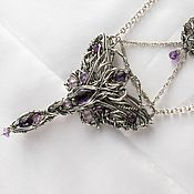Украшения handmade. Livemaster - original item Freyja Necklace with amethyst and ametrine. Handmade.