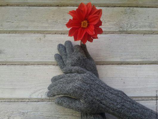 Варежки, митенки, перчатки ручной работы. Ярмарка Мастеров - ручная работа. Купить Перчатки вязаные  из кашемира с шёлком. Handmade.