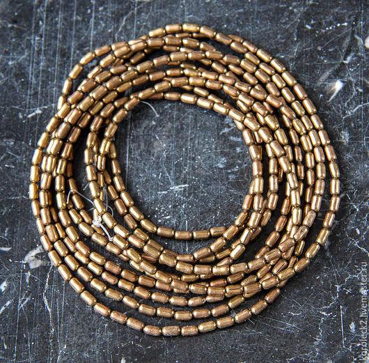 Для украшений ручной работы. Ярмарка Мастеров - ручная работа. Купить Мелкие латунные бусины-трубочки 4 мм, Эфиопия. Handmade.