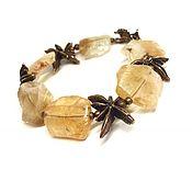 Украшения handmade. Livemaster - original item Bracelet Warm. Natural citrine, Anna Chernykh fittings, bronze. Handmade.