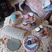 Кукольная еда ручной работы. Ярмарка Мастеров - ручная работа Еда для кукол, кексики, капкейки, выпечка в масштабе 1:12. Handmade.