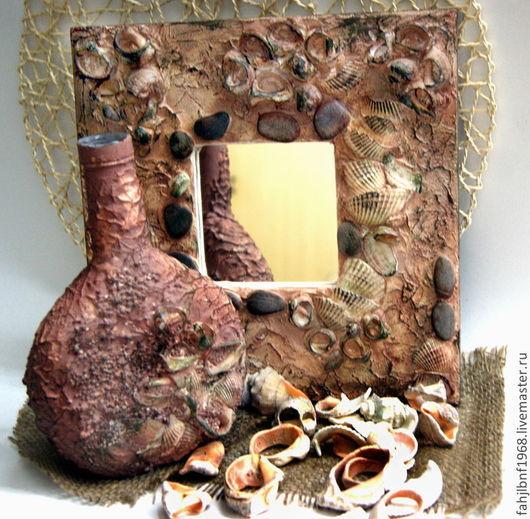"""Зеркала ручной работы. Ярмарка Мастеров - ручная работа. Купить Зеркало """"Подарок моря"""". Handmade. Зеркало, зеркало с раковинами, дерево"""