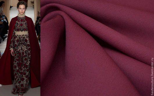 Шитье ручной работы. Ярмарка Мастеров - ручная работа. Купить Valentino плотная костюмная !!!. Handmade. Бордовый, ткань валентино