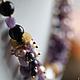 """Колье, бусы ручной работы. Ярмарка Мастеров - ручная работа. Купить """"Amethyst"""" ожерелье из натуральных камней. Handmade. Подарок"""
