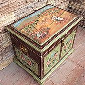 Для дома и интерьера handmade. Livemaster - original item Painted furniture. The chest and the shelf