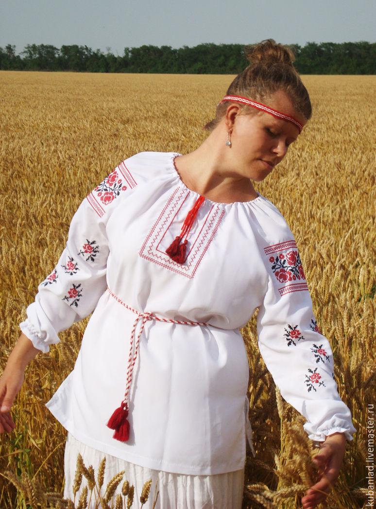 """Женская вышиванка """"Розы"""", Блузки, Староминская,  Фото №1"""