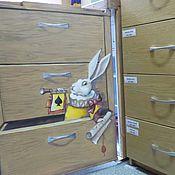 Дизайн и реклама ручной работы. Ярмарка Мастеров - ручная работа Роспись холодильника Кролики ;). Handmade.
