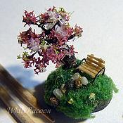 """Украшения handmade. Livemaster - original item Ball pendant sphere with micro-miniature """"Sakura"""". Handmade."""