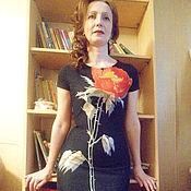Одежда ручной работы. Ярмарка Мастеров - ручная работа трикотажное платье футляр, платье из трикотажа, повседневное платье. Handmade.