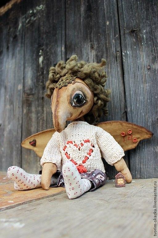Ароматизированные куклы ручной работы. Ярмарка Мастеров - ручная работа. Купить Дух дома. Handmade. Коричневый, хранитель дома, холофайбер