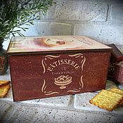 """Для дома и интерьера ручной работы. Ярмарка Мастеров - ручная работа Чайный короб """"Время пить чай"""" Короб для сладостей, варианты. Handmade."""