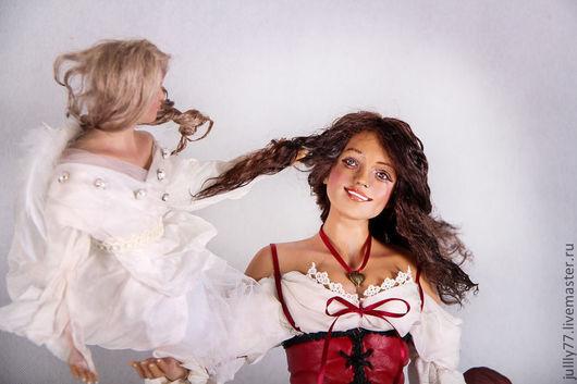 Коллекционные куклы ручной работы. Ярмарка Мастеров - ручная работа. Купить Разговор с ангелом. Handmade. Авторская кукла, коллекционная кукла