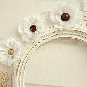 Для дома и интерьера ручной работы. Ярмарка Мастеров - ручная работа Декоративная рамка для интерьера в стиле шебби шик.. Handmade.