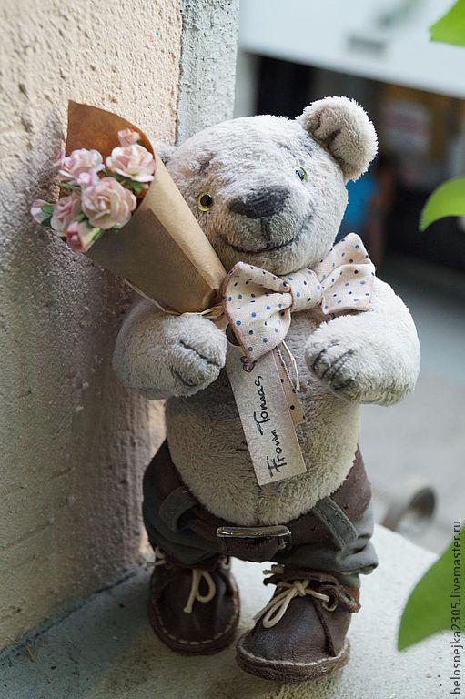 Мишки Тедди ручной работы. Ярмарка Мастеров - ручная работа. Купить мишка тедди Томас. Handmade. Бежевый, авторский мишка