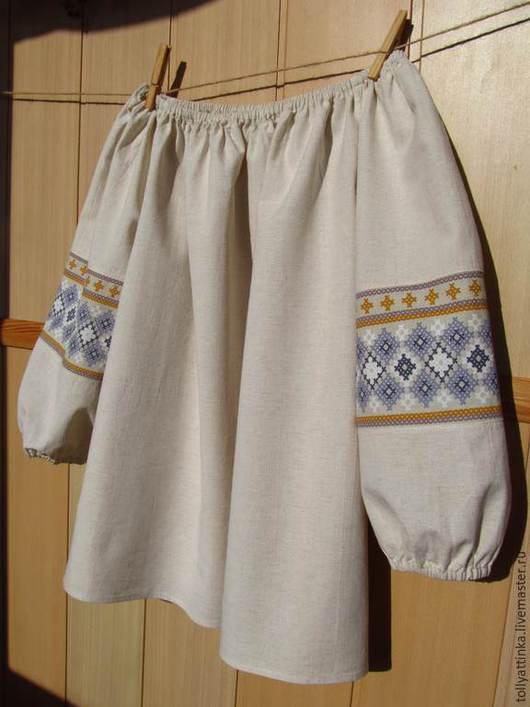 Одежда ручной работы. Ярмарка Мастеров - ручная работа. Купить Блуза в фольклорном стиле. Handmade. Бежевый, блуза
