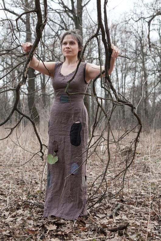 Платья ручной работы. Ярмарка Мастеров - ручная работа. Купить Платье Камни. Handmade. Бежевый, безрукавое платье