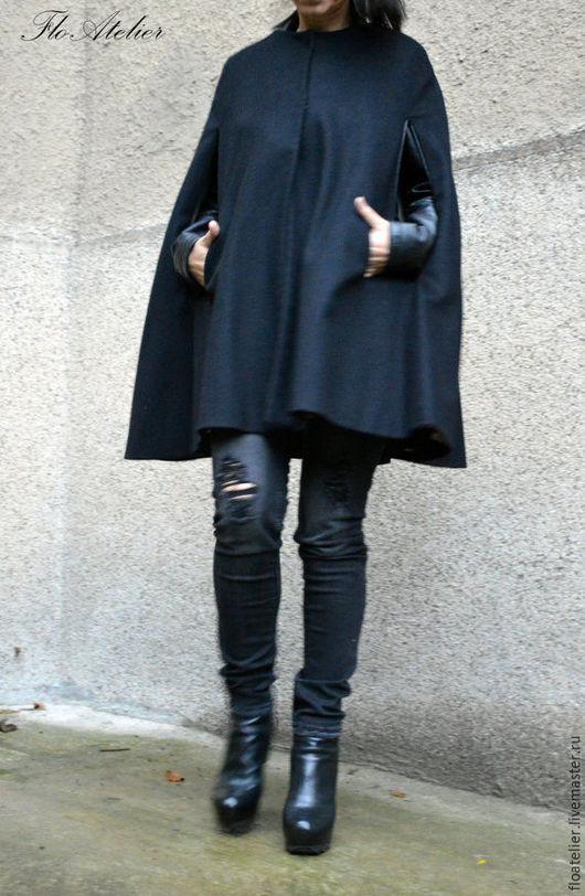 Верхняя одежда ручной работы. Ярмарка Мастеров - ручная работа. Купить Зимнее модное пальто/Зимняя куртка/F1504. Handmade. Черный