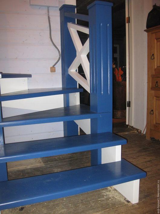 Интерьерные слова ручной работы. Ярмарка Мастеров - ручная работа. Купить Лестница небесного цвета. Handmade. Тёмно-синий, дуб