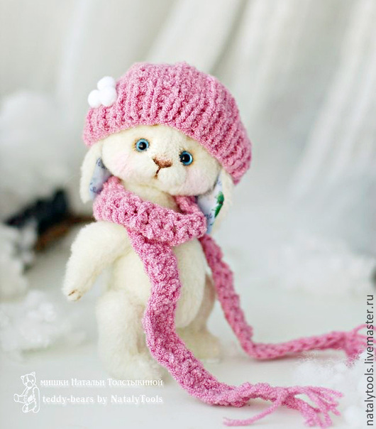 Мишки Тедди ручной работы. Ярмарка Мастеров - ручная работа. Купить Зайка Снежинка. Тедди кролик, заяц тедди. Handmade.