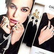 Tassel earrings handmade. Livemaster - original item Earrings-brush Black Lily silk black agates gilt. Handmade.