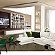 Коллаж стилевого решения оформления гостиной.