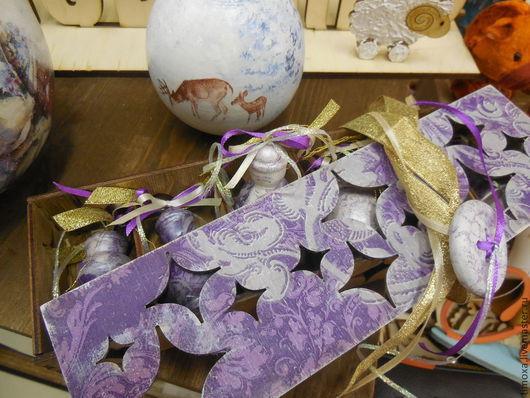 """Новый год 2017 ручной работы. Ярмарка Мастеров - ручная работа. Купить Коробка с игрушками """"Старый Новый год """". Handmade. Подарок"""
