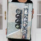 Картины и панно ручной работы. Ярмарка Мастеров - ручная работа Берлинский светофор. Handmade.