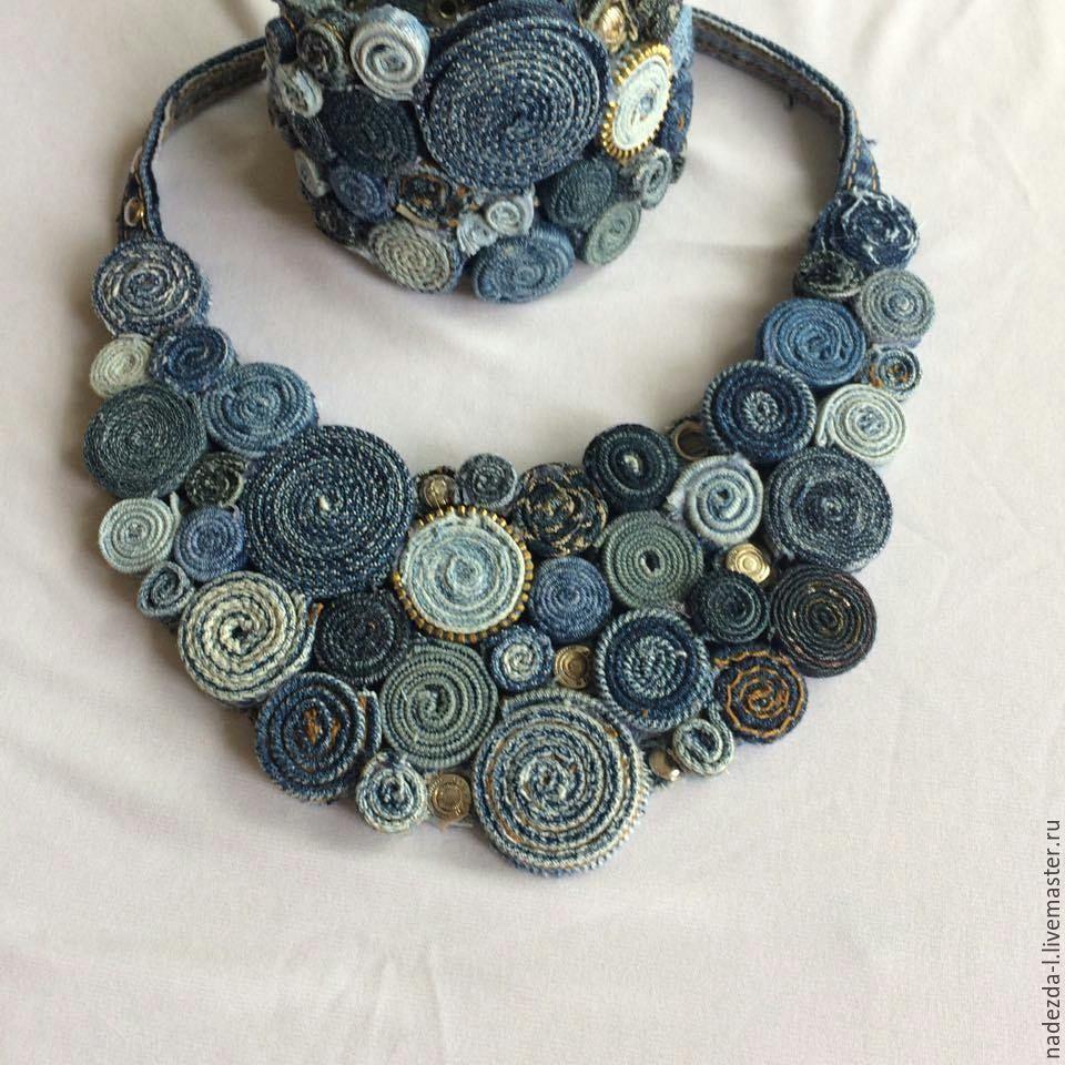 Set ' Boho-denim.!', Jewelry Sets, Belovo,  Фото №1