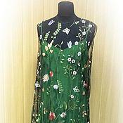 Одежда handmade. Livemaster - original item Dress made of netting with embroidery. Handmade.