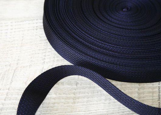 Шитье ручной работы. Ярмарка Мастеров - ручная работа. Купить Ременная лента, 25 мм. Handmade. Тёмно-синий, стропа