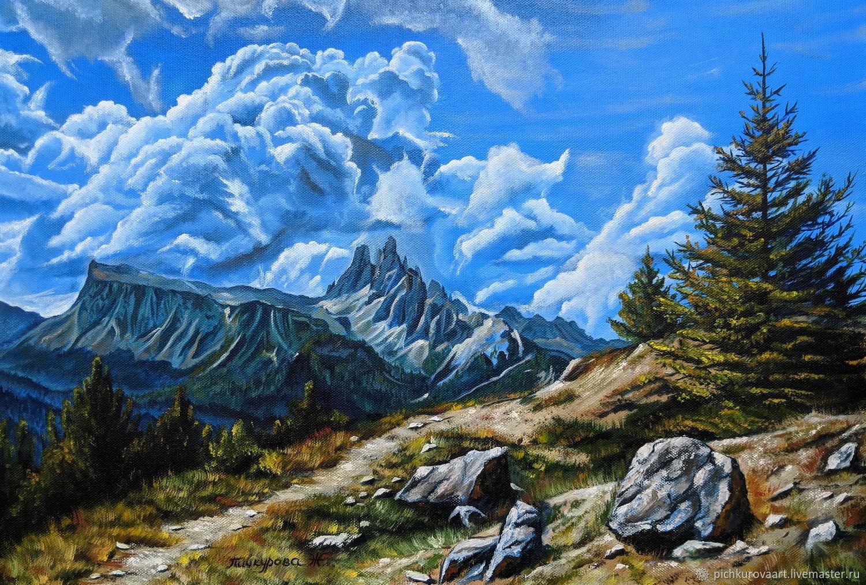 Картина маслом Гора Крода-да-Лаго, Картины, Житомир,  Фото №1