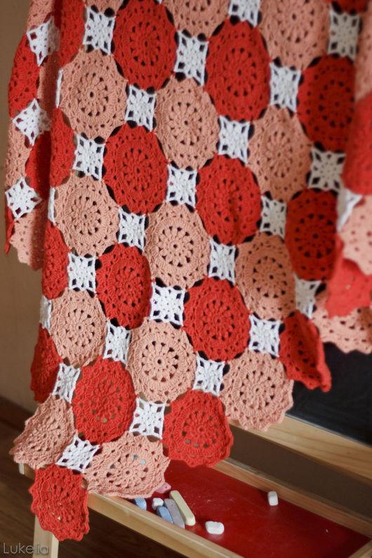 """Пледы и одеяла ручной работы. Ярмарка Мастеров - ручная работа. Купить Плед детский  """"Леденцы"""". Handmade. Коралловый, плед для малыша"""