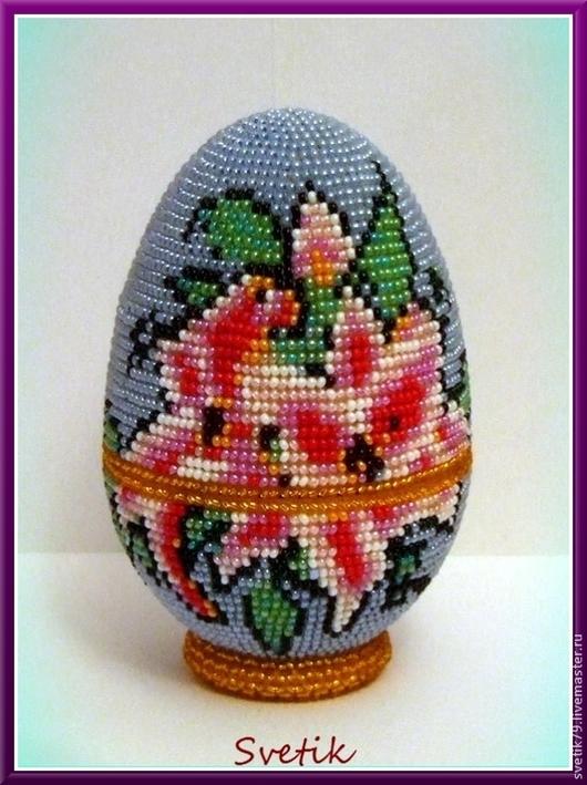 Шкатулки ручной работы. Ярмарка Мастеров - ручная работа. Купить яйцо-шкатулка из бисера. Handmade. Шкатулка ручной работы