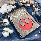 Канцелярские товары handmade. Livemaster - original item Star wars Alliance Wooden notebook / Sketchbook. Handmade.