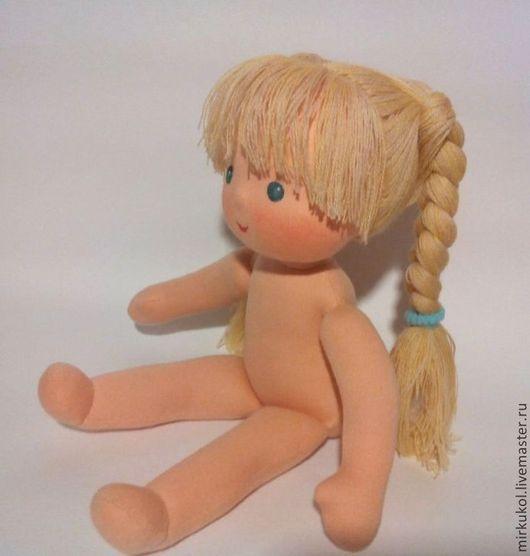 Вальдорфская игрушка ручной работы. Ярмарка Мастеров - ручная работа. Купить Голышка вальдорфская кукла 32 см ПРОДАНА. Handmade.