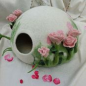 """Для домашних животных, ручной работы. Ярмарка Мастеров - ручная работа Домик для котика """" Нежный розовый  бутон"""".. Handmade."""