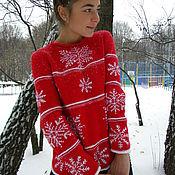 """Одежда ручной работы. Ярмарка Мастеров - ручная работа Джемпер с вышивкой""""Новогодний"""".. Handmade."""
